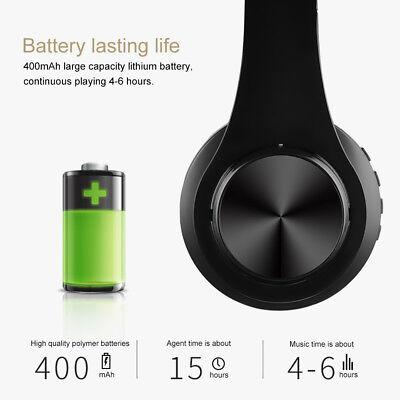 Wireless Bluetooth Headphones Foldable Stereo Earphones Super Bass Headset Mic 5