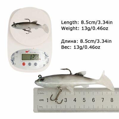 False Fishing Soft Lures 7//7.5//9cm Silicone Minnows 5pcs//lot Carp Fishing Baits