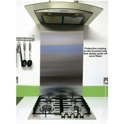 70cm Brushed Stainless Steel Kitchen Cooker Range Splashback 700mm high