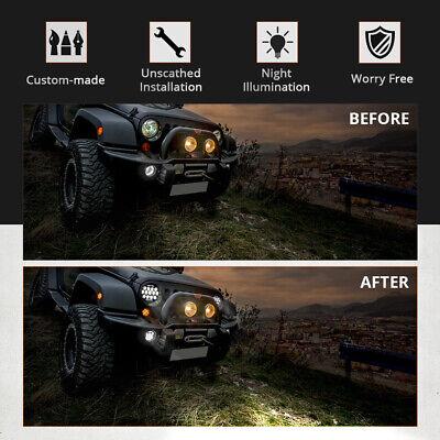 "2X 7"" INCH 280W LED Headlight Hi/Lo Beam DRL For Jeep Wrangler CJ JK LJ Rubicon 6"