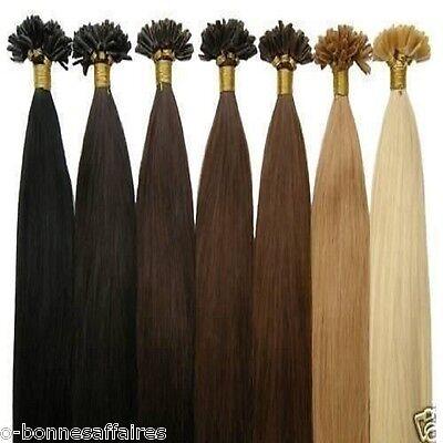 100 Extensions 100% Cheveux Naturels Pose A Chaud A Keratine, Rajout 49 Cm
