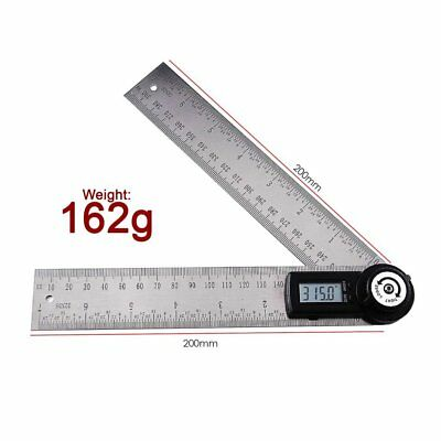 2-in-1 Digital Angle Finder Meter Protractor Stainless Steel 360° Ruler 400mm 5