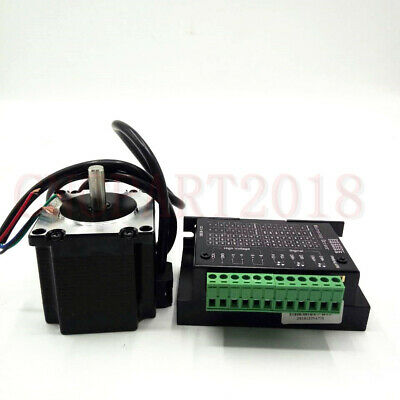 Stepper Motor Nema23 330oz-in 2.2NM 1.8° 4-wires+TB6600 Driver Kit 3A CNC Router 9