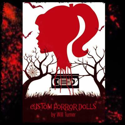 SALE! Elvira, Mistress of the Dark CUSTOM HORROR DOLL OOAK Halloween 12 Inch 2
