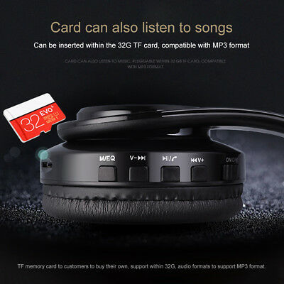 Wireless Bluetooth Headphones Foldable Stereo Earphones Super Bass Headset Mic 7