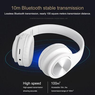 Wireless Bluetooth Headphones Foldable Stereo Earphones Super Bass Headset Mic 3