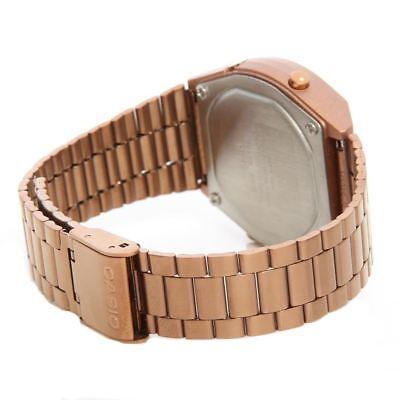 Casio Unisex Rose Gold Stainless Steel Digital Light Alarm Watch B640Wc-5Aef 4