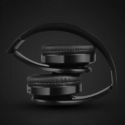 Wireless Bluetooth Headphones Foldable Stereo Earphones Super Bass Headset Mic 12