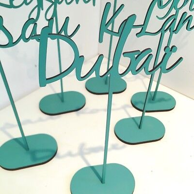 Wooden Table Names, Customised Table Names, Free Standing Wedding Table Names 5