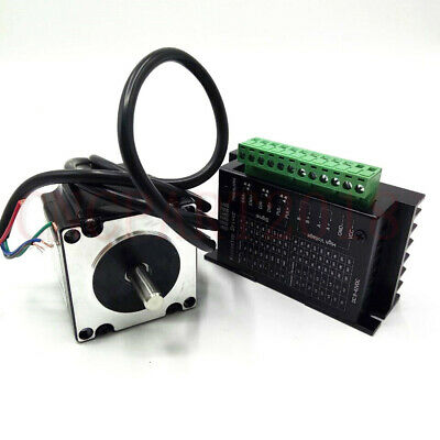 Stepper Motor Nema23 330oz-in 2.2NM 1.8° 4-wires+TB6600 Driver Kit 3A CNC Router 2