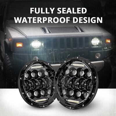 "2X 7"" INCH 280W LED Headlight Hi/Lo Beam DRL For Jeep Wrangler CJ JK LJ Rubicon 9"