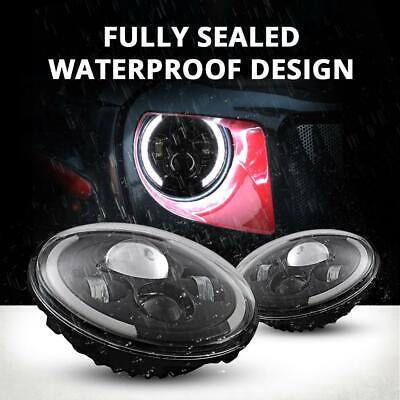 DOT Pair 7 Inch CREE LED Headlights Halo Angle Eye For Jeep Wrangler JK TJ CJ LJ 7