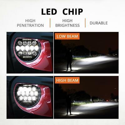 2X 7 Inch Round 280W Total LED Headlights Hi/Lo for 97-17 JEEP JK TJ LJ Wrangler 8