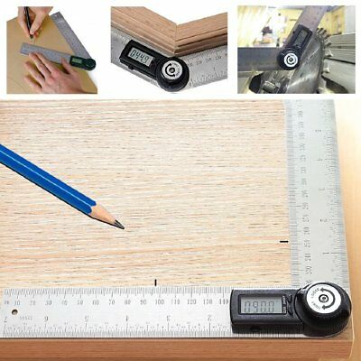 2-in-1 Digital Angle Finder Meter Protractor Stainless Steel 360° Ruler 400mm 2