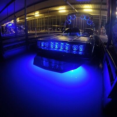 Blue Titan Led Underwater Boat Light 8000 Lumens Drain