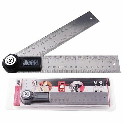 2-in-1 Digital Angle Finder Meter Protractor Stainless Steel 360° Ruler 400mm 3