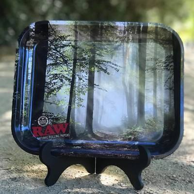 """TWO RAW Rolling papers """"SMOKEY TREES"""" LARGE Rolling Tray - Planting 5000 trees! 2"""