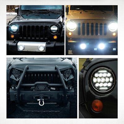 "2X 7"" INCH 280W LED Headlight Hi/Lo Beam DRL For Jeep Wrangler CJ JK LJ Rubicon 5"