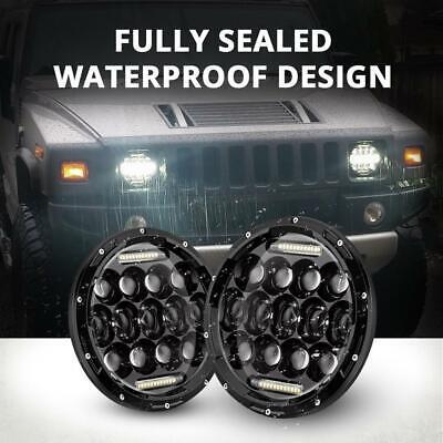 "Pair 7"" INCH LED Headlights Hi/Lo Beam DRL For Jeep Wrangler CJ JK LJ TJ Rubicon 4"