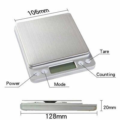 Portable 3000g x 0.01g Mini Digital Scale Jewelry Pocket Balance Weight Gram LCD 9