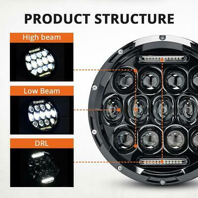 2X 7 Inch Round 280W Total LED Headlights Hi/Lo for 97-17 JEEP JK TJ LJ Wrangler 6
