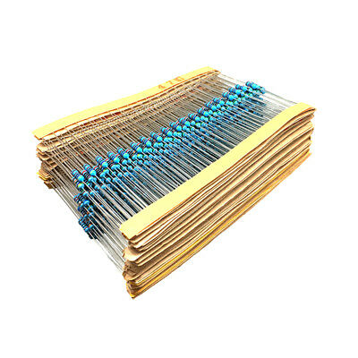 100PCS 1/4W 0.25W Metal Film Resistor ±1%- Full Range of Values (0Ω to 10MΩ) 2
