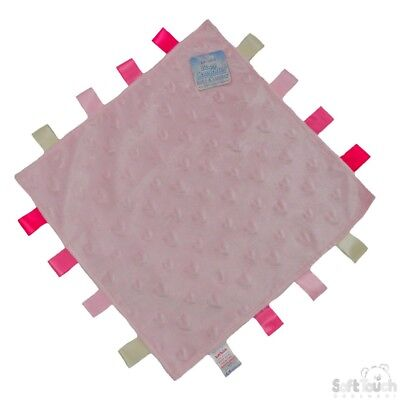 Personalised Baby Soft Dimple star/heart Comforter Taggy taggie tag  Blanket 3