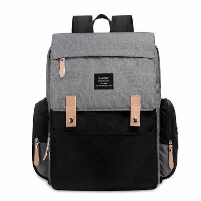 LAND Waterproof Mommy Baby Diaper Bag Nappy Backpack + Stroller Hooks 6