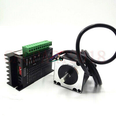 Stepper Motor Nema23 330oz-in 2.2NM 1.8° 4-wires+TB6600 Driver Kit 3A CNC Router 7