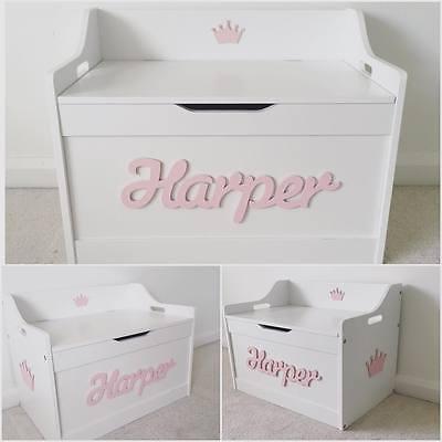 4 Of 8 Girls/boys Wooden Personalised Childrenu0027s Toy Box/Storage Box/chest  Nursery