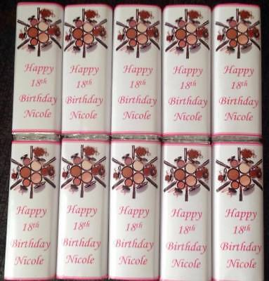 50 Personalised Birthday Chocolate Bar WRAPPERS RK54 1st 2nd 3rd 4th 5th 6th 7th