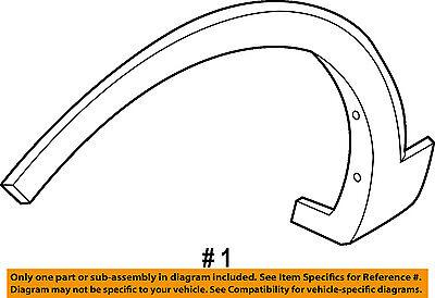 KIA OEM Sorento Front Fender-Wheel Well Flare Arch Molding Right 877122P010