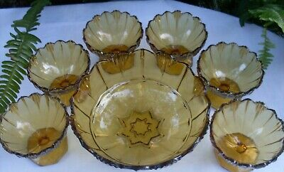 RARE Antique 1920's SOWERBY England HUMPHREY AMBER BOWLS SET VG Collectable Aust 12