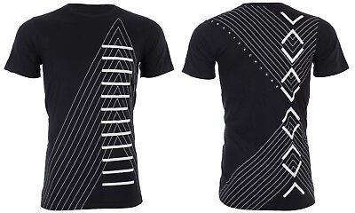 Armani Exchange INVERTED Mens Designer T-SHIRT Premium BLACK Slim Fit $45 NWT 3