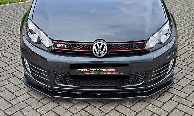 CUP Spoilerlippe für VW Golf 6 GTI GTD Edition 35 08-13 Front Schwert Ansatz IN 2