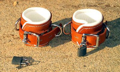 Halsfessel echtes Leder boundshop Neckcollar Fußfessel Handschellen 4