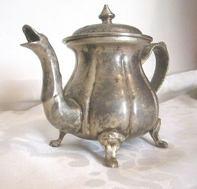 Antique Vintage Art Deco Silver Islamic Arabic Tea Coffee Pot Signed Hand Design 10