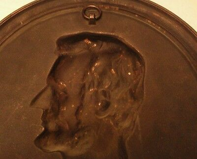 """Lincoln Cast Metal Plaque Compliments of Foster Merriam Co. Merriam CT  11 1/4"""" 5"""