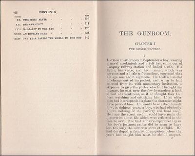 1919 Charles Morgan THE GUNROOM, Novel Based on his ROYAL NAVY Service 1907-1913 5