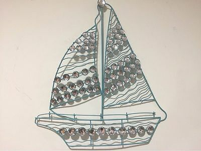 3D ACRYLIC CRYSTAL Nautical Metal Sailboat Boat Seaside Beach Wall ...