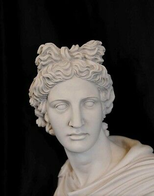 Italian Carved Bust Apollo Faux Marble Interiors 8
