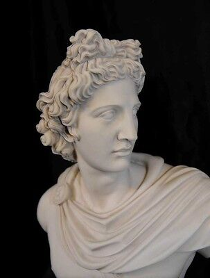 Italian Carved Bust Apollo Faux Marble Interiors 7