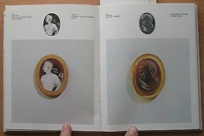 Russian Book Antique Cameo Art Old Miniature Portrait Stone Vintage European VTG