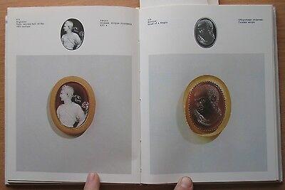 Russian Book Antique Cameo Art Old Miniature Portrait Stone Vintage European VTG 3