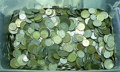 1 Full Pound lbs of Unsearched World Foreign Coins Lot Group Estate Roll!