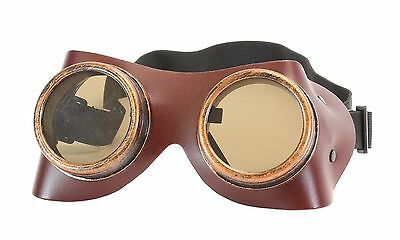 Steampunk Green Cyber Motorcycle Flying Goggles Vintage Pilot Biker