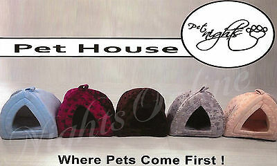 Small & Large Pet House, Soothed Comfortable Cat Dog Igloo Treat Lair 2