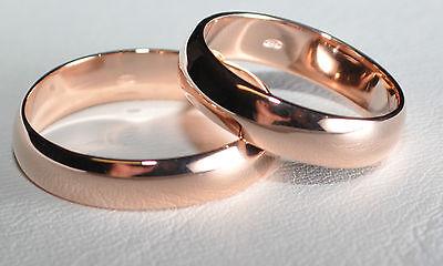 1 Paar Trauringe Eheringe Hochzeitsringe Gold 585 Rotgold