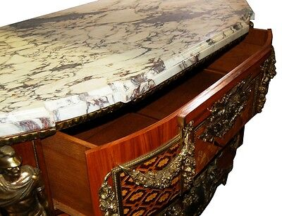 French Louis XVI Cabinets, a Pair, Large with Marble Top #5969 8