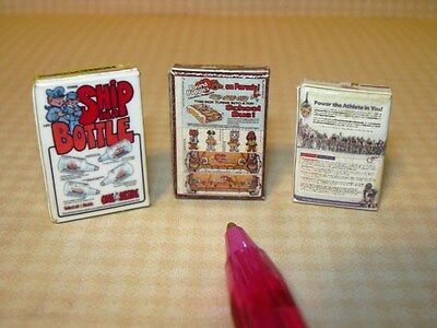 "DOLLHOUSE 1:12 Scale Miniature Trio of /""POST/"" Brand Cereal Boxes SET #3"